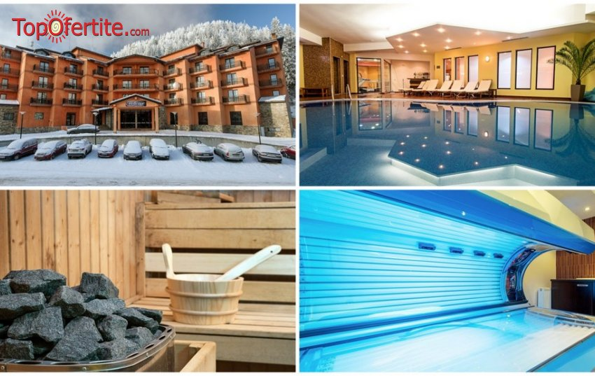 Хотел Белвю Ски и СПА 4*, Пампорово, топ сезон или Нова Година! Нощувка + закуска, вечеря, вътрешен плувен отопляем басейн, трансфер до ски лифта и Уелнес пакет на цени от 50 лв. на човек