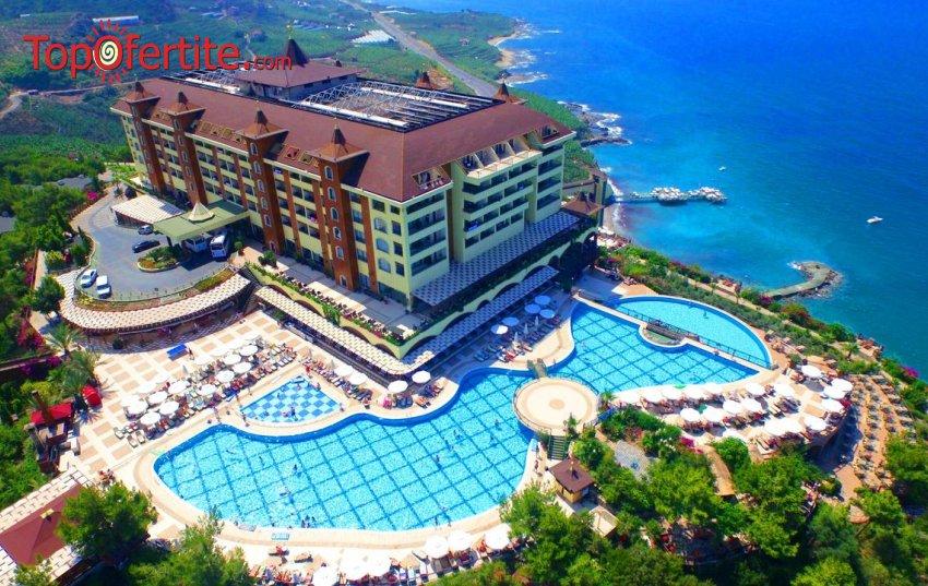 РАННИ ЗАПИСВАНИЯ Utopia World Hotel 5*, Алания, Турция! 2 или 4 нощувки на база Ultra All Inclusive + самолет, летищни такси и трансфер на цени от 563 лв на човек