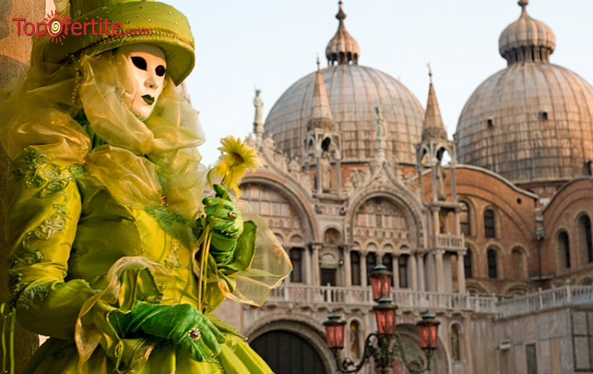 Потвърдена! 5-дневна екскурзия до Венеция за венециански маскен карнавал + 3 нощувки, закуски, екскурзоводско обслужване и опция за участие в най-популярното събитие а Карнавала - Полета на Ангела за 189 лв.