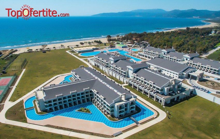 Великден или 1 Май в хотел KoruMar Ephesus Beach & SPA Resort 5*, Кушадасъ, Турция! 5 нощувки с автобус или собствен транспорт на база Ultra All Inclusive за 360лв на човек