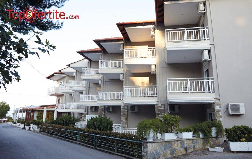 РАННИ ЗАПИСВАНИЯ Georgalas Sun Beach Hotel 3*, Касандра, Халкидики - Гърция, първа линия! Нощувка + закуска на цени от 35 лв. на човек