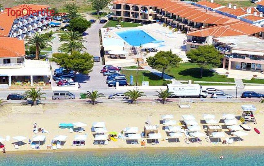 РАННИ ЗАПИСВАНИЯ хотел Toroni Blue Sea 3*, Ситония, Халкидики, Гърция, първа линия! Нощувка + закуска и вечеря на цени от 55 лв. на човек