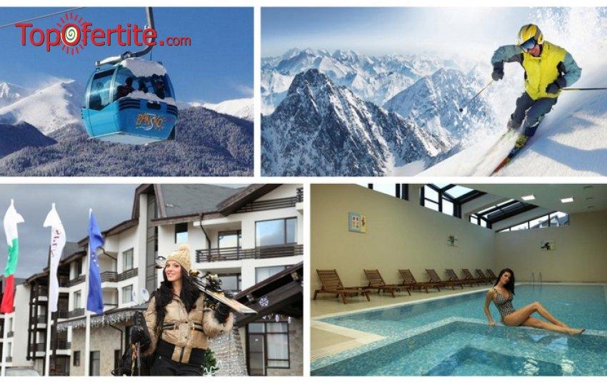 Ски ваканция в Хотел Аспен Ризорт, Банско! 2, 3 или 5 нощувки + закуски, вечери, вътрешен отопляем басейн, трансфер до лифта и обратно, сауна парк и Уелнес пакет на цени от 103 лв на човек