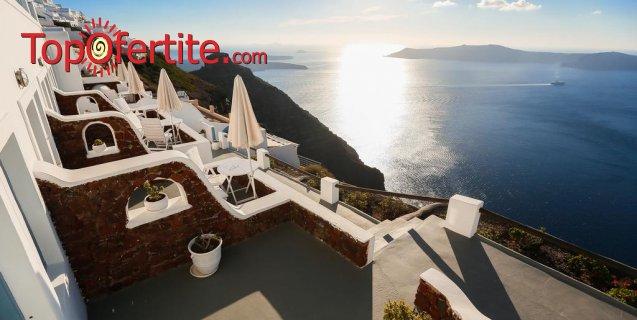 Майски празници в Ilioperato Hotel 4*, Санторини, Гърция! 3 нощувки + закуски, самолет, летищни такси и трансфер за 1091лв на човек