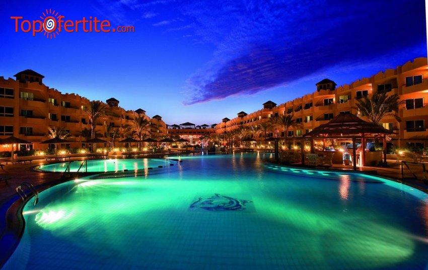 Почивка в Египет със самолет! 7 нощувки на база All Inclusive в Хотел Amwaj Blue Beach Resort & SPA 5*, Сома Бей, Хургада, самолетни билети, летищни такси и трансфер за 906.50 лв на човек