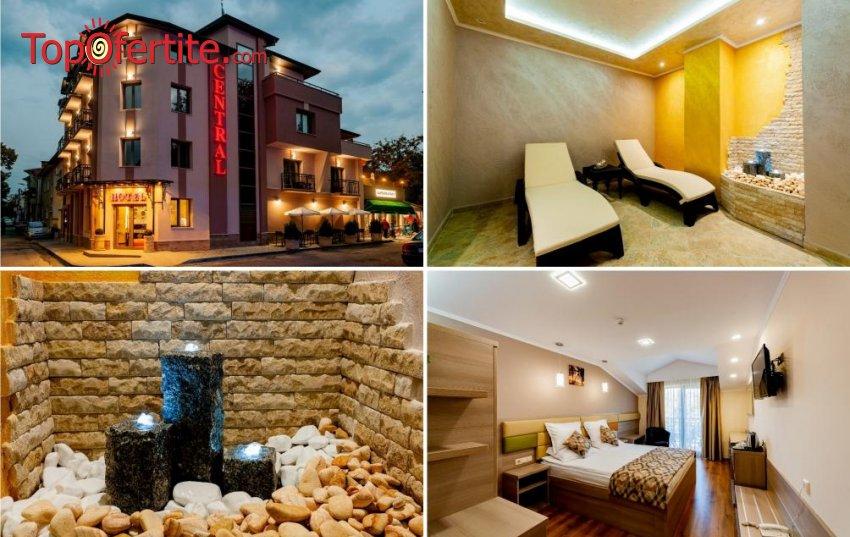 Хотел Централ, Павел Баня! 2 нощувки + закуски, минерален басейн, Уелнес пакет и опция за 2 частични масажа на зона по избор за 72,10 лв. на човек