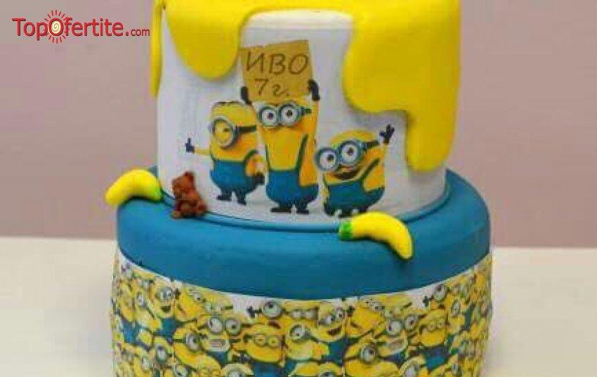 3D детска торта и надпис по желание - 25 или 30 парчета от Кафе-сладкарница Орхидея само за 64,80 лв или 74,80 лв