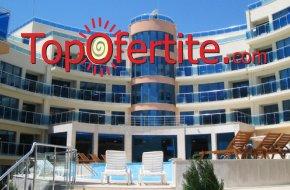 На море в Хотел Аквамарин, Обзор! 2, 4 или 6 нощувки в апартамент на база закуски или закуски и...