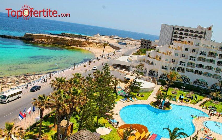 Почивка в Тунис със самолет на 27.08! 7 нощувки на база All Inclusive в хотел Delphine El Habib 4*, самолетни билети, летищни такси и трансфер за 989.50 лв на човек