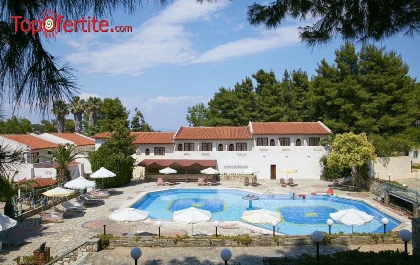 Macedonian Sun 3*, Калитея, Халкидики - Гърция, първа линия! Нощувка + закуска, вечеря и безплатно дете до 11.99г на цени от 52.20 лв. на човек