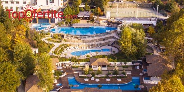 Хотел Медите Спа Резорт & Вили 5*, гр. Сандански! Нощувка + закуска, вечеря, открит и закрит басейн с минерална вода, външно джакузи, билкова сауна и Уелнес пакет на цени от 105 лв. на човек + дете до 12г. Безплатно