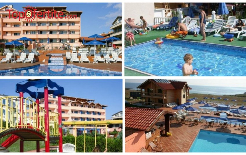 На море в Хотел Роза, Черноморец! Нощувка + закуска, обяд, вечеря, външен басейн с детска секция, джакузи, шезлонг, чадър и детска анимация на цени от 33 лв. на човек