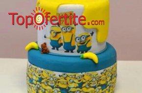 3D детска торта и надпис по желание - 25 или 30 парчета от Кафе-сладкарница Орхидея само за 64,...