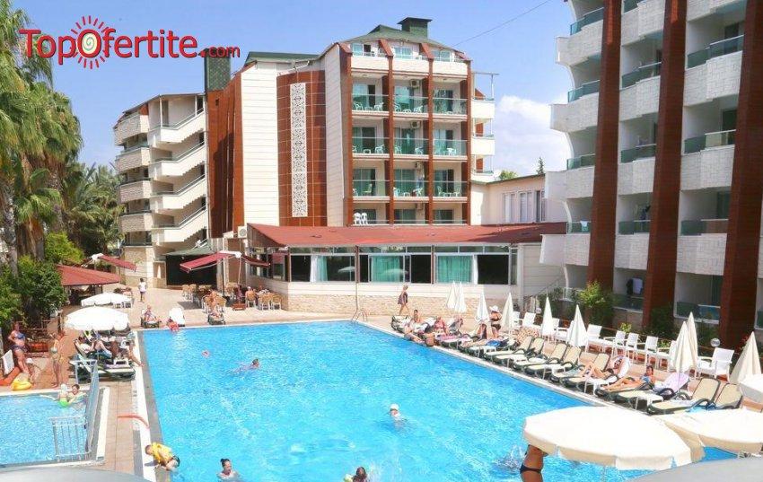 Super Last Minute с полет до Анталия, Турция! 7 нощувки в Himeros Life Hotel 4* на база All Inclusive  + самолетни билети, трансфер и летищни такси на цени от 256лв