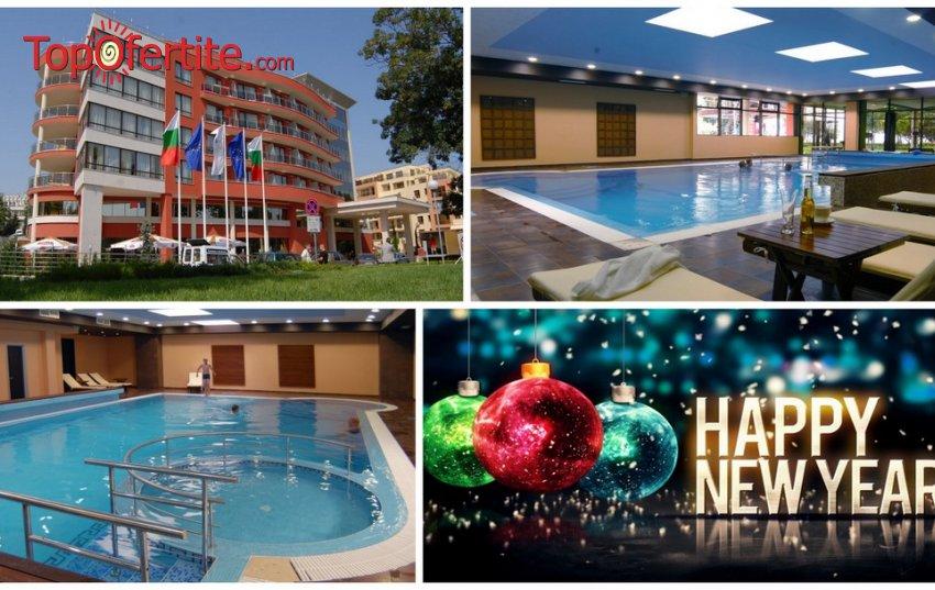 Нова Година в Хотел Виго 4*, Несебър 50 м. от плажа! 2 или 3 нощувки + закуски, Празнична Новогодишна вечеря, басейн и дете до 12 г. безплатно на цени от 220 лв на човек