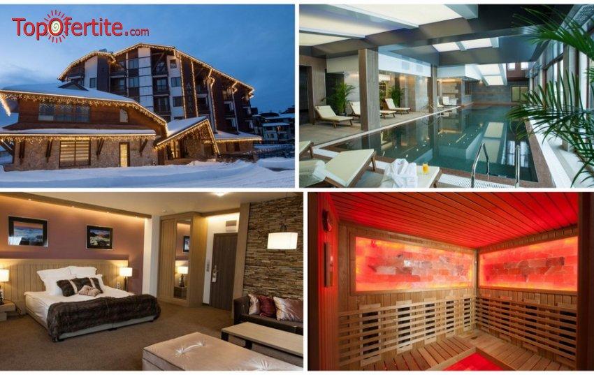 Хотел Амира 5*, Банско! Нощувка + закуска или закуска и вечеря, вътрешен плувен басейн, СПА пакек на цени от 47 лв. на човек + дете до 12г. Безплатно
