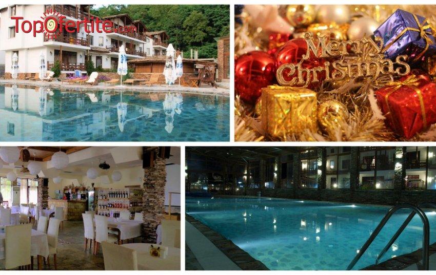 Коледа в Хотел Петрелийски, Огняново! 3 нощувки + закуски, вечери, Коледна вечеря с изненади, вътрешен минерален басейн и Уелнес пакет на цени от 171 лв. на човек