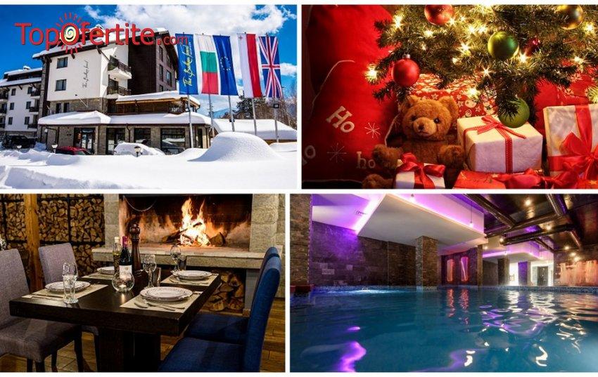 Коледа в Хотел Балканско Бижу 4* Банско! 2, 3 или 5 нощувки + закуски, вечери, Празнична вечеря за Бъдни вечер, Коледна вечеря, транспорт до Ски станция и Банско, отопляем вътрешен басейн, джакузи и СПА пакет на цени от 188,10 лв. на човек