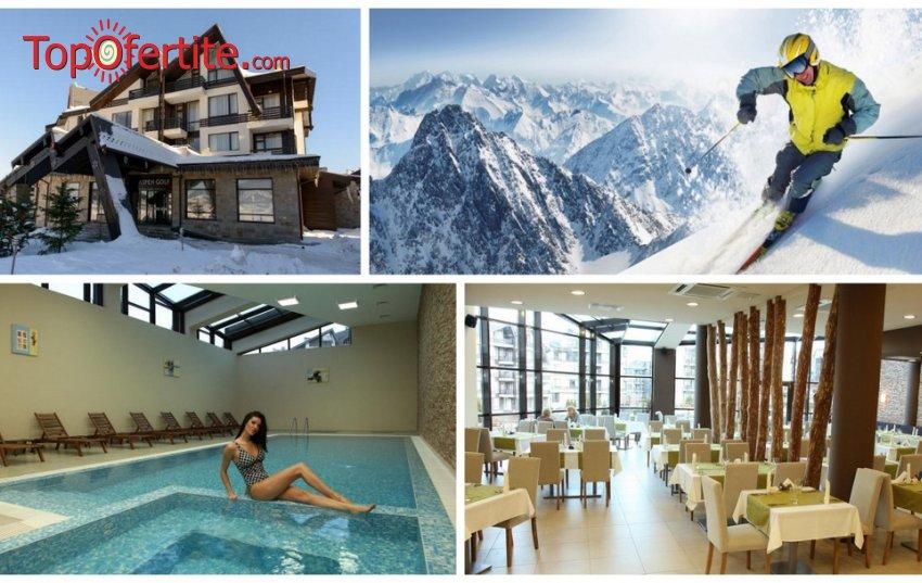Хотел Аспен Ризорт, Банско! 1, 2  или 3 нощувки + закуски, вечери, закрит отопляем басейн 30°C, джакузи, сауна парк, транспорт до Лифта и Уелнес пакет на цени от 49 лв на човек