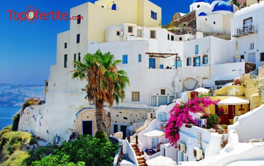 6-дневна екскурзия до о.Санторини + 4 нощувки със закуски, транспорт, посещение на Атина и водач за 399 лв.