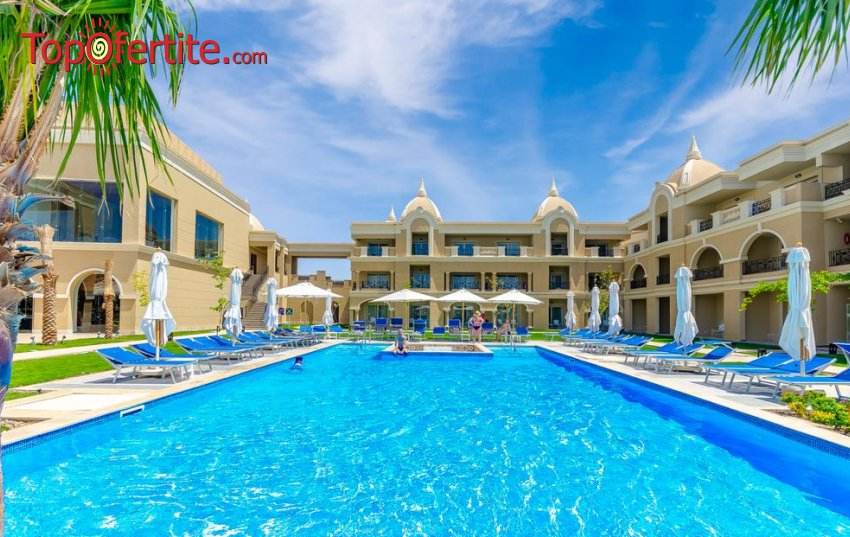 Почивка в Египет със самолет! 7 нощувки на база Ultra All Inclusive в хотел Titanic Royal 5 *, самолетни билети, летищни такси и трансфер за 1595.50 лв. на човек