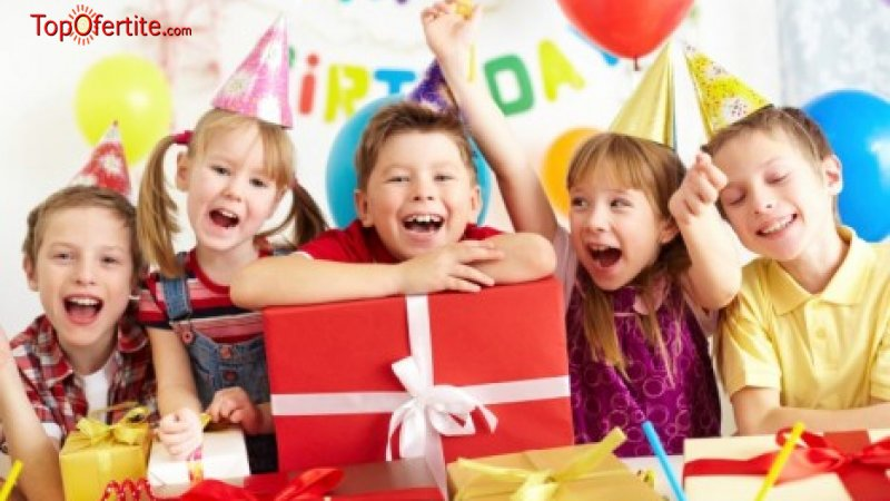 Детски рожден ден за 10 деца + детски менюта и 2 часа в детския кът с аниматор в Sport City Kid...