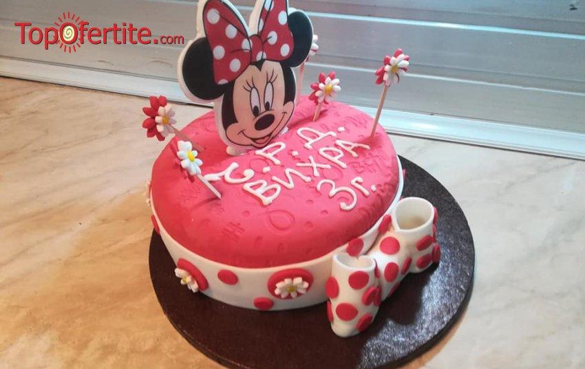 3D детска торта и надпис по желание - 25 или 30 парчета от Кафе-сладкарница Орхидея само за 78 лв или 90 лв
