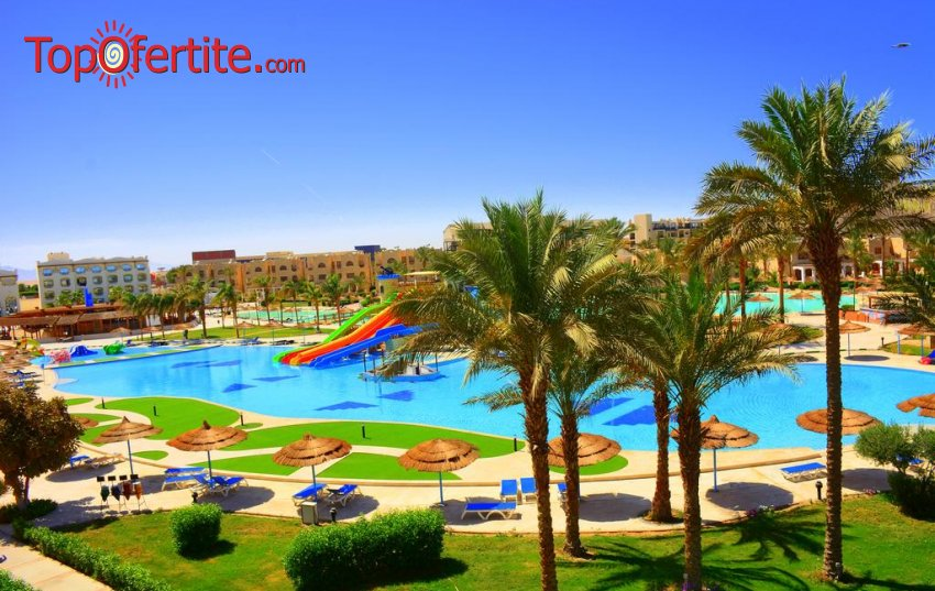 Почивка в Египет със самолет! 7 нощувки на база All Inclusive в хотел Royal Lagoons Aqua Park Resort Hurghada 5*, самолетни билети, летищни такси и трансфер за 650 лв. на човек