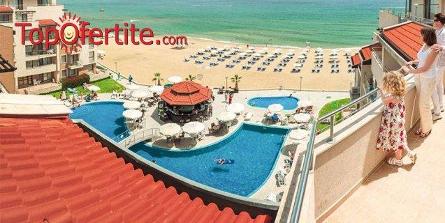 На море в Комплекс Обзор Beach Resort 4* на първа линия! Нощувка на база All Inclusive + открити басейни с шезлонги, чадъри на цени от 64 лв. на човек