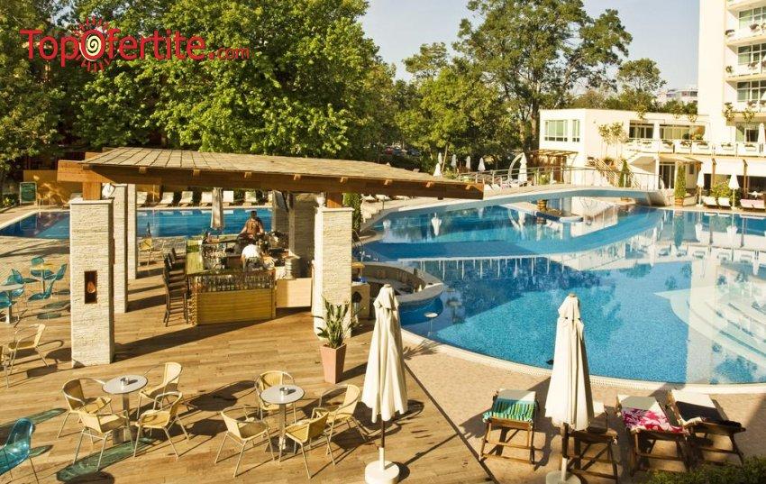 На море в Гранд Хотел Оазис, Слънчев бряг на 80 м. от плажа! Нощувка на база All Inclusive + басейн с шезлонг и чадър, анимация на цени от 44 лв. на човек + дете до 12,99 г. Безплатно