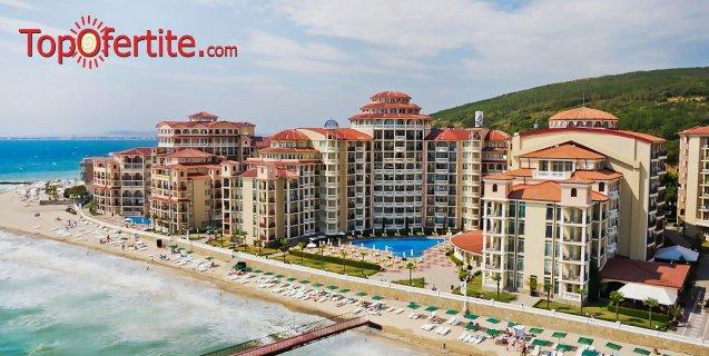 На море в Хотел Андалусия, Елените Първа линия! Нощувка на база Аll inclusive + Аквапарк, Лунапарк и външен басейн с шезонг и чадър на цени от 52 лв на човек