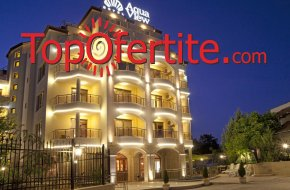 На море в Бутиков Хотел Аква Вю 4*, Златни пясъци! Нощувка + закуска или закуска и вечеря, външен басейн, сауна и парна баня на цени от 35 лв. на човек