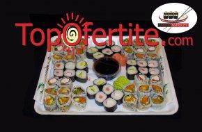 Суши сет от 50, 80 или 120 броя вкусни хапки от Суши Маркет на цени от 27,90 лв