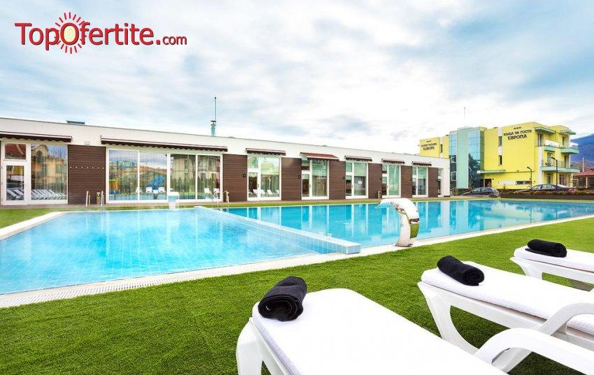 Комплекс Европа, Долна баня! 1 или 2 нощувки + закуски, външен басейн с минерална вода, джакузи, сауна и парна баня на цени от 50 лв. на човек