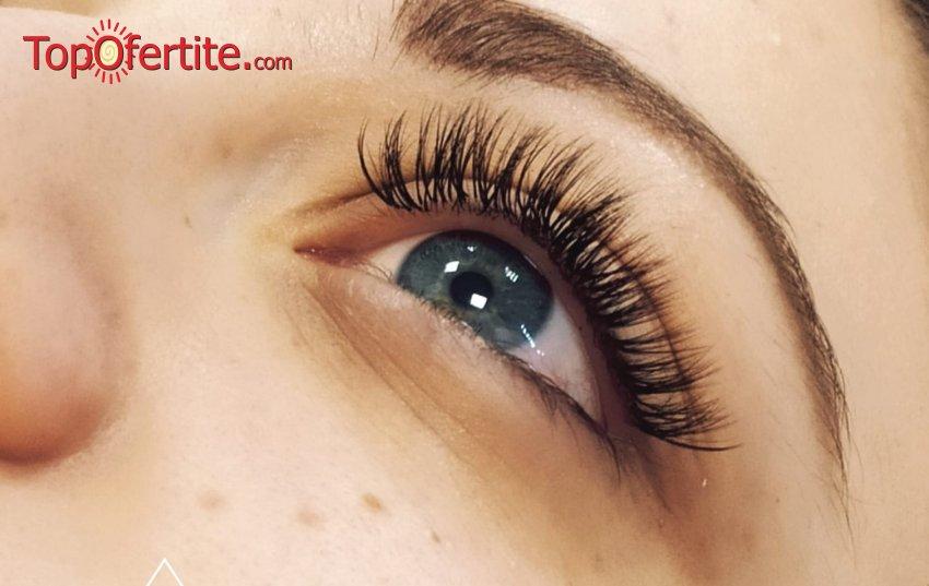 Поставяне на мигли от коприна, норка и flat lashes - косъм по косъм, 3D, 5D, 6D или Руски обем от студио за красота DeniNails на цени от 34,90 лв