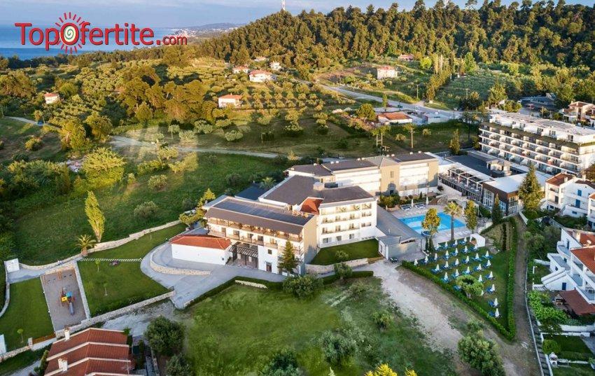 Ранни резервации лято 2021! Bomo Kriopigi Hotel 4*, Халкидики, Гърция! Нощувка на Ultra All Inclusive, басейн и безплатно дете до 5,99г. на цени от 159лв на помещение