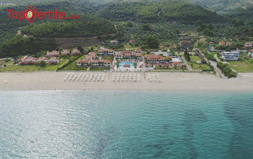 Ранни резервации Лято 2021! Assa Maris Beach Hotel 4* Халкидики, Ситония на брега на морето! Нощувка със закуска и вечеря и безплатно дете до 11.99г. за 73лв. на човек