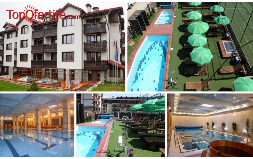 Делничен пакет в Апартхотел 7 Pools SPA & Apartments, Банско! 1 или 2 нощувки в едноспален апартамент + закуски или закуски и вечери, закрит отопляем басейн и СПА пакет на цени от 70 лв. на човек