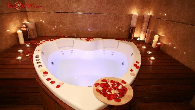 Свети Валентин в Парк Хотел ПИРИН 5*, Сандански! 2 нощувки + закуски, романтична вечеря, романтичен масаж за Двама и СПА пакет за 197 лв. на човек