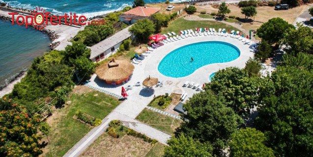 На море в Хотел Кремиковци, Китен! Нощувка на база All Inclusive + басейн, шезлонг и чадър около басейна на цени от 38,50 лв на човек