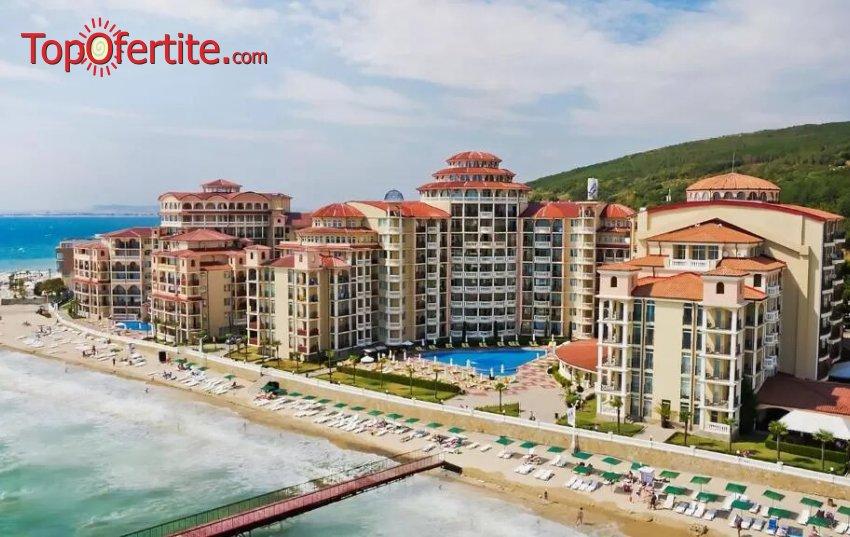 На море в Хотел Андалусия 3*, Елените - Първа линия! Нощувка на база Аll inclusive + аквапарк Атлантида, външен басейн, шезонг и чадър на цени от 45 лв. на човек