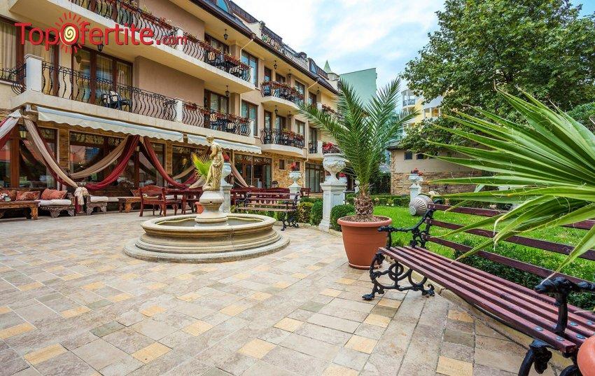 На море в Хотел Златна Перла 3*, Слънчев бряг, Първа линия! Нощувка + закуска, външен басейн, шезлонг и чадър около басейна на цени от 36 лв. на човек