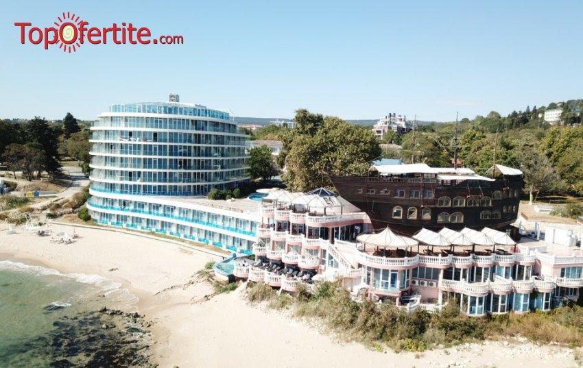 На море в Сириус Бийч Хотел & СПА, Св. Константин и Елена! Нощувка на база All Inclusive + чадър и шезлонг на плажа, два открити басейна и СПА на цени от 64,50 лв. на човек
