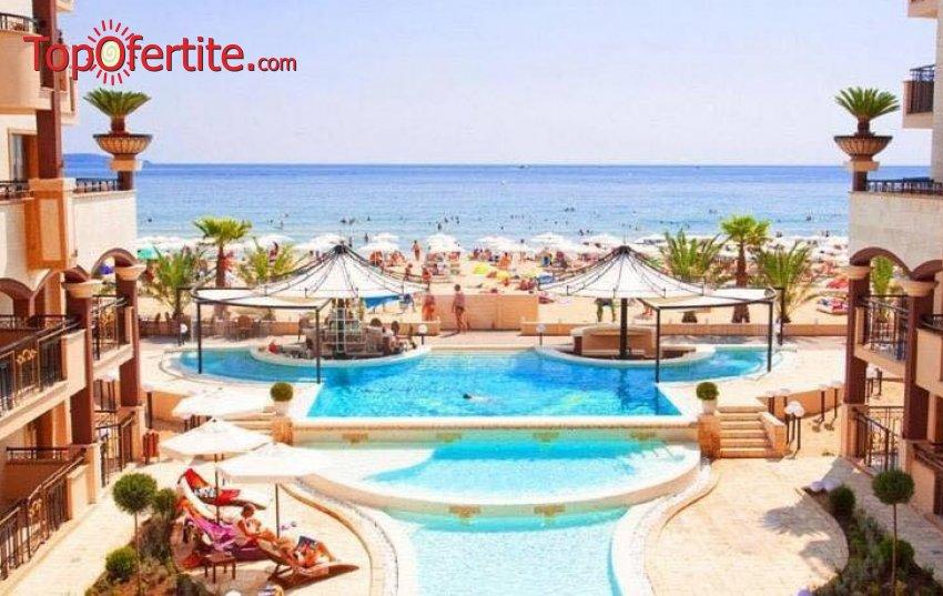 На море в Хотел Голден Ина - Румба Бийч, Слънчев бряг, Първа линия! Нощувка на база All inclusive + басейн с шезлонг и чадър на плажа на цени от 60 лв. на човек