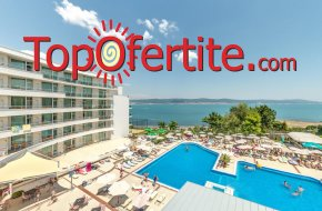 На море в Хотел Феста Панорама 4*, Несебър - Първа линия! Нощувка на база All inclusive + вътрешен и външен басейн, джакузи, шезлонг и чадър около басейна на цени от 69 лв на човек