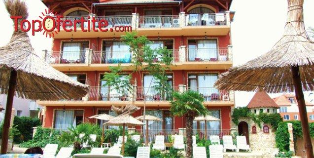 На море в Хотел Тропикана, Равда! Нощувка + закуска, басейн, шезлонг и чадър около басейна на цени от 32, 50 лв. на човек