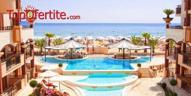 На море в Хотел Голден Ина - Румба Бийч, Слънчев бряг, Първа линия! Нощувка на база All inclusive + басейн с шезлонг и чадър на плажа и около басейна на цени от 70 лв. на човек