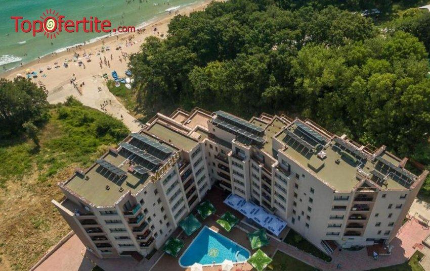 Хотел Морето, Обзор! Нощувка + закуска, обяд, вечеря, външен отопляем басейн с детска секция, чадър и шезлонг около басейна и на плажа на цени от 53,10 лв. на човек