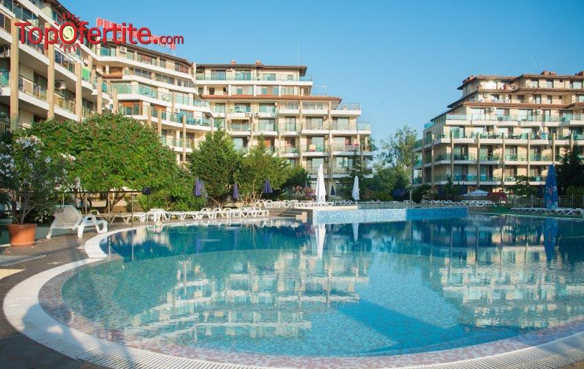 На море в Апарт хотел Престиж Сити 2, гр. Приморско! Нощувка на база All Inclusive + басейн, шезлонг и чадър около басейна на цени от 50 лв. на човек