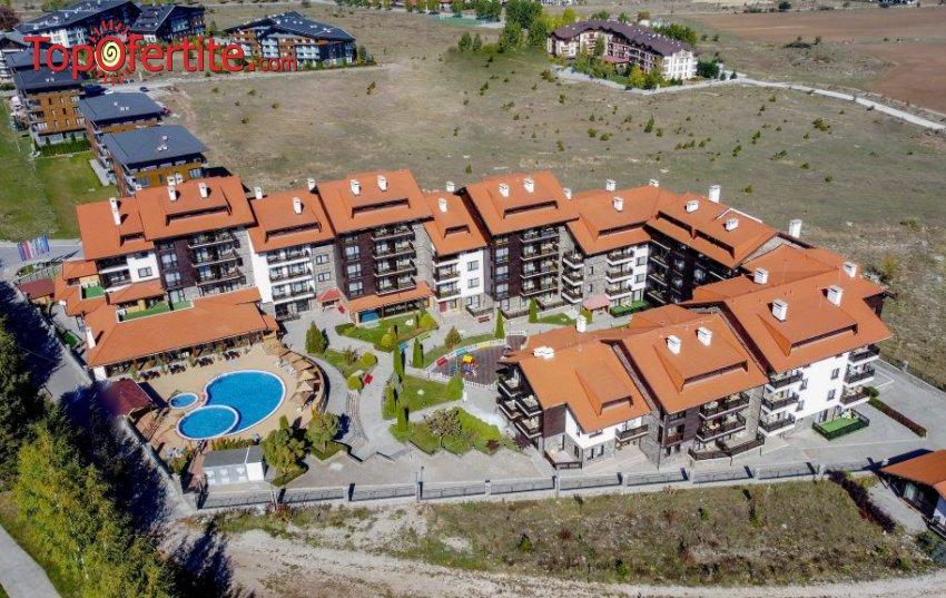 Хотел Балканско Бижу 4* Банско! 2 или 3 нощувки + закуска или закуска и вечеря, отопляем вътрешен басейн, външен басейн и ползване на Термална зона на цени от 76 лв. на човек